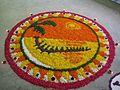 1 floral art arrangement at the Onam Hindu festival of Kerala.jpg