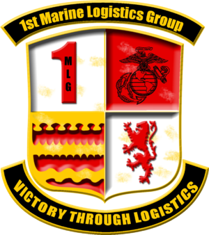 English: Insignia of the 1st Marine Logistics ...