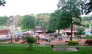 New Philadelphia, Ohio - Tuscora Park in New Philadelphia features a carousel, Ferris wheel, and other rides.