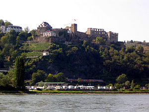 Rheinfels Castle - View of Rheinfels Castle from across the Rhein