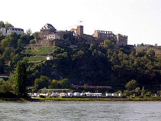 Rheinfels Castle - View of Rheinfels Castle from across the Rhein