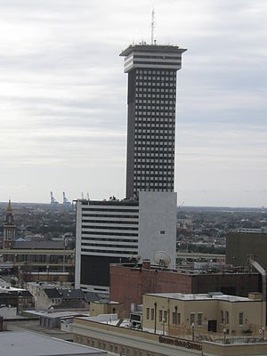 Plaza Tower - View from the Hilton New Orleans skydeck