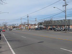 Snyder, New York - Image: 20090410 Main Street and Harlem Road in Snyder, New York