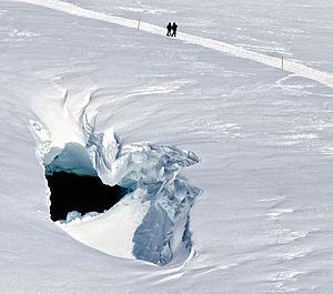 Jungfraujoch - The Mönchsjoch Hut trail on the Jungfraufirn