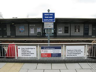 St Austell railway station - The entrance from the car park