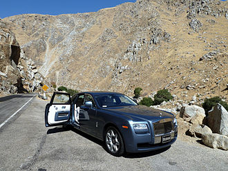 "Rolls-Royce Ghost - A rear ""coach door"" on a 2011 Rolls-Royce Ghost."
