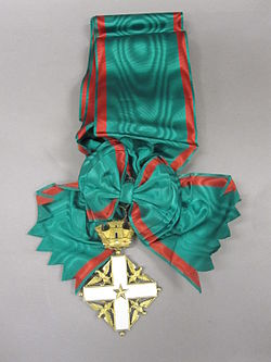 2011-119-18 Award, Foreign, Order of Merit, Knight Grand Cross,Italy (5415310973).jpg