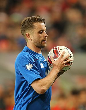 Kári Árnason - Kári playing for Iceland