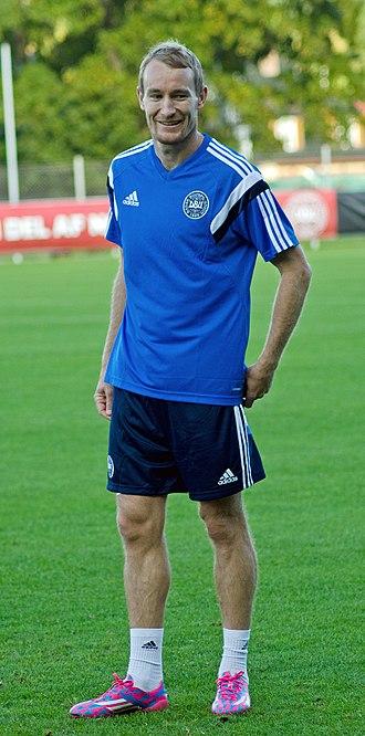 Thomas Kahlenberg - Kahlenberg in training with Denmark national football team