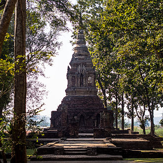 Chiang Saen District - The chedi of Wat Pa Sak