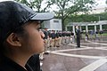 2015 Law Enforcement Explorers Conference explorer standing in the rain.jpg