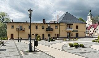 Szczytna Place in Lower Silesian Voivodeship, Poland