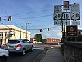 2016-07-21 18 21 05 View south along U.S. Route 15 (Madison Road) at Virginia State Route 20 Business (Main Street) in Orange, Orange County, Virginia.jpg