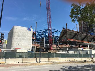 Wintrust Arena - Wintrust Arena under construction in August 2016