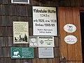 2017-07-22 (35) Signs at Ybbstaler Hütte at Dürrenstein (Ybbstaler Alpen).jpg