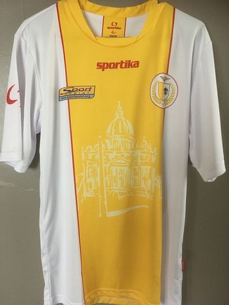 Vatican City national football team - Jersey worn by Vatican City in April 2017 during its friendly match with Monaco