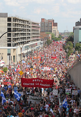 Those Who Make Revolution Halfway Only Dig Their Own Graves - The 2012 Quebec student protests in Montreal inspired the film.