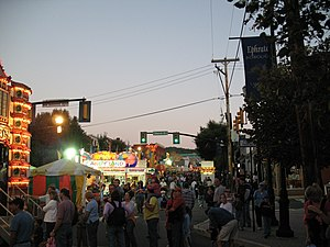 Ephrata, Pennsylvania - Main Street during the Ephrata Fair