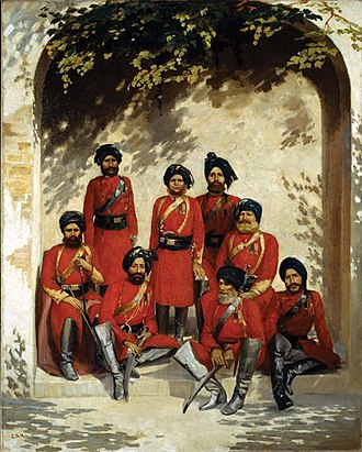 12th Cavalry (Frontier Force) - Image: 2nd Punjab Cavalry, 1880 Gordon Hayward