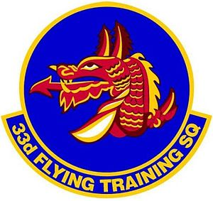 33d Flying Training Squadron - 33d Flying Training Squadron Patch