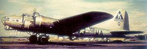 "RAF Kimbolton - Boeing B-17G-45-BO Fortress AAF Ser. No. 42-97229 524th BS, ""Hi Ho Silver""."