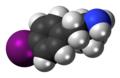 4-Iodoamphetamine molecule spacefill.png