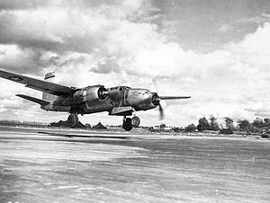 410th Air Expeditionary Wing - 410th Bombardment Group A-20 taking off
