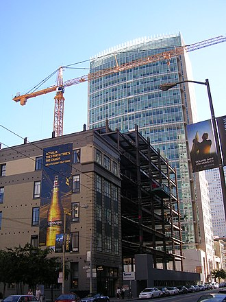555 Mission Street - Image: 555 Mission Street construction 2007 08 12