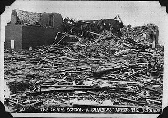 1955 Great Plains tornado outbreak - Damage from the Udall Tornado
