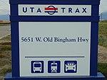 5600 W Old Bingham Hwy station street sign, Apr 16.jpg