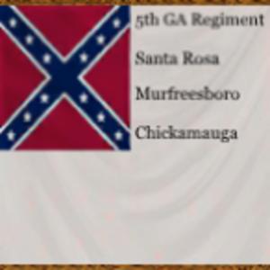 5th Georgia Volunteer Infantry - Regimental flag of the 5th Georgia