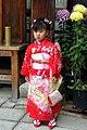 7-year-old girl wearing kimono in Shichi-go-san festival; November 2007.jpg