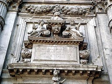 8223 - Venezia - Heinrich Meyring, Cenotafio di Vincenzo Fini (+1726) - San Moisè - Foto Giovanni Dall'Orto, 12-Aug-2007.jpg
