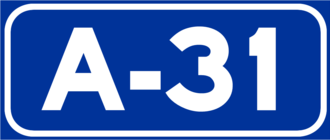 European route E903 - Image: A 31Spain
