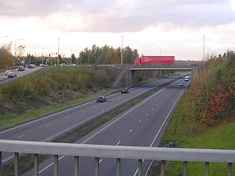 A5 road (Great Britain) - Image: A5 Milton Keynes
