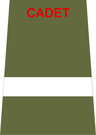 Under officer - Insignia worn by a Cadet Under Officer in the ACF