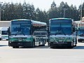AC Transit coaches for Transbay service at Emeryville facility, June 2018.JPG