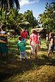 AFL Solomon Islands counterpart Job Vulita running a junior AFL clinic at Kobito. (10664961576).jpg