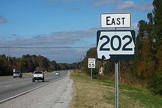 Alabama State Route 202 - Alabama State Route 202 sign, located near US Route 78.