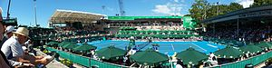 ASB Tennis Centre - A panorama of the ASB Tennis Centre during the Heineken Open.