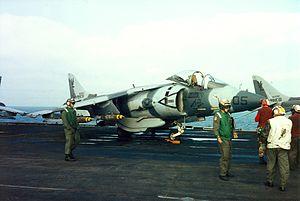 AV-8B VMA-331 on USS Nassau (LHA-4) during 1991 Gulf War.jpeg