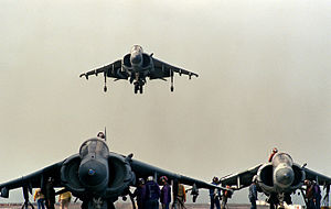 AV-8Bs VMA-331 on USS Nassau (LHA-4) 1990.JPEG
