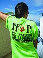 AVI volunteer Administrative Adviser – Capacity Builder, Kim Abbey raising awareness about issues of domestic violence at an event in Honiara, Solomon Islands. 2010. Photo- Jen Wiggins, AVI - AusAID (10676409373).jpg