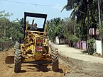 A Grader working in railway constructions, jaffna.JPG