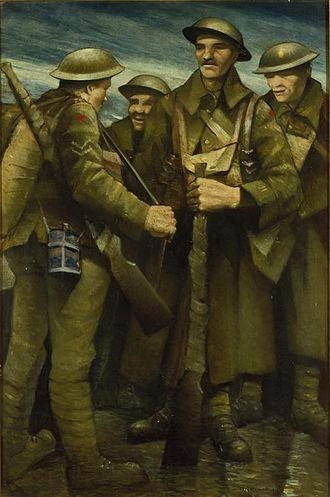 Christopher R. W. Nevinson - A Group of Soldiers (1917) (Art.IWM ART 520)