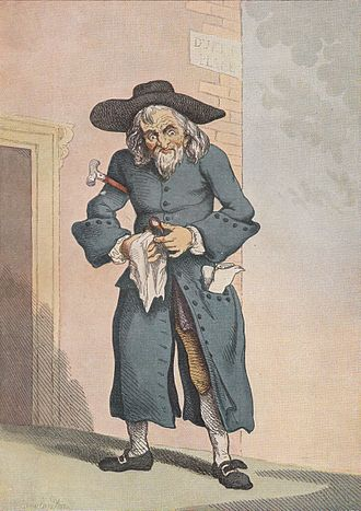 Stereotypes of Jews - A Jew Broker by Thomas Rowlandson, 1789