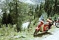 A Kranjska Gora-ba tartó szerpentin Trenta fölött. Jugoszlávia 1966. Fortepan 69809.jpg