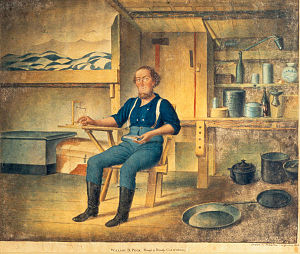 Henry Walton (American painter) - A Miner in His Cabin, Henry Walton, ca. 1853, California