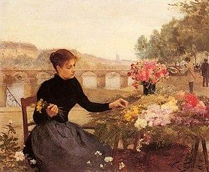 Floristry - A Parisian Flower Market by Victor Gabriel Gilbert