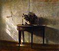 A Sunlit Interior de Carl Vilhelm Holsøe..jpg